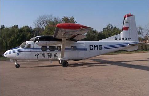 机载激光雷达搭载的cms-3807飞机照片